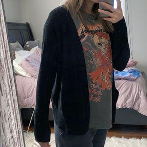 Black XL cardigan
